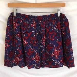 Forever 21 | Women Skirts | Navy Blue/Red/Floral